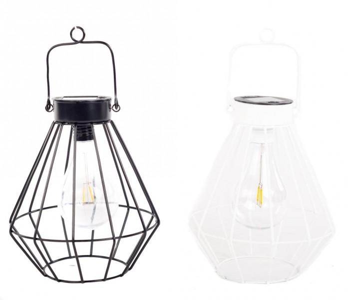 Home Society solarlamp Jasper zwart/wit S