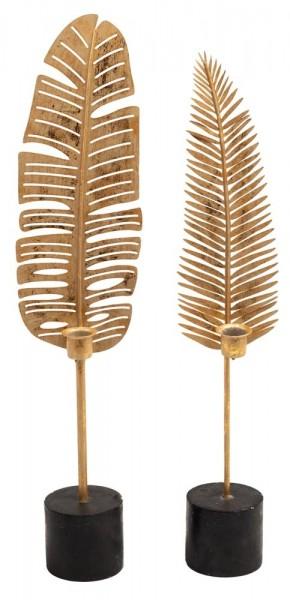 Home Society kaarsenstandaard leaf Vic goud