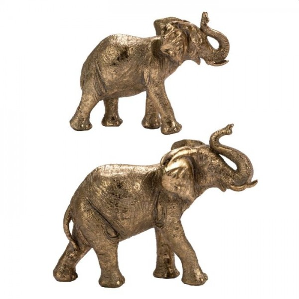 Home society Deco elephant corte gold s