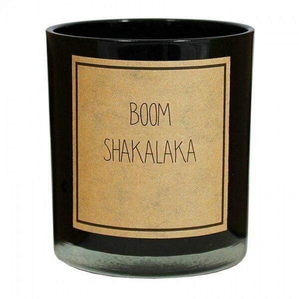 My Flame Lifestyle scented soy candle black boomshakalaka