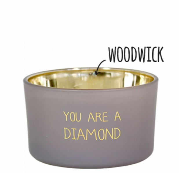 My Flame Lifestyle scented soy candle grey you are a diamond