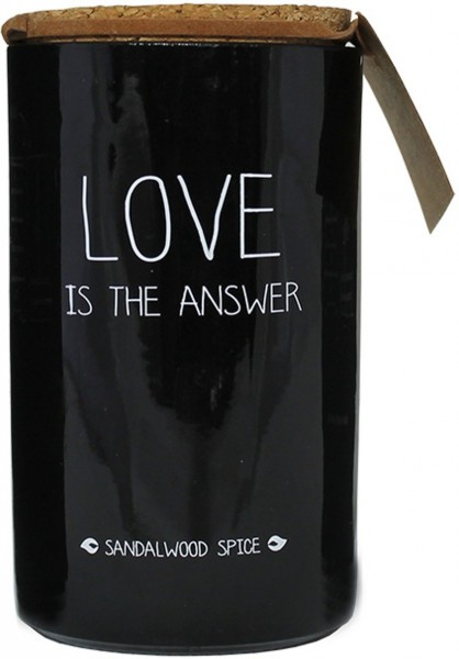 My Flame Lifestyle scented soy candle black love is the answer