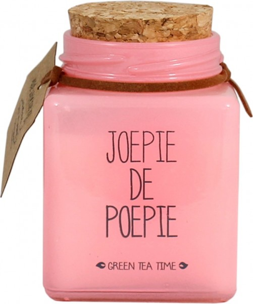 My Flame Lifestyle scented soy candle pink joepie de poepie