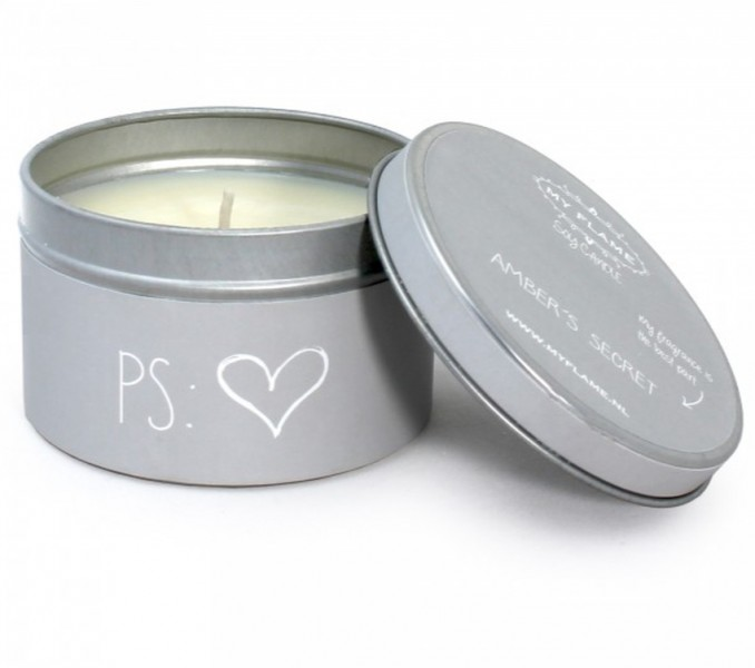 My Flame Lifestyle scented soy candle light grey P S