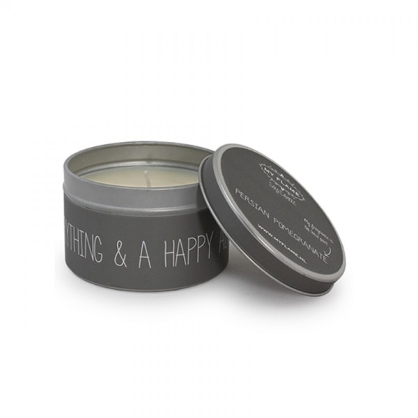 My Flame Lifestyle scented soy candle dark grey merry everything