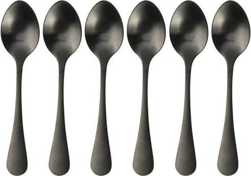 Gusta koffielepeltjes 6 stuks zwart