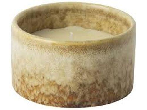 Gusta Kaars in keramische pot 8.6x4.9cm bruin