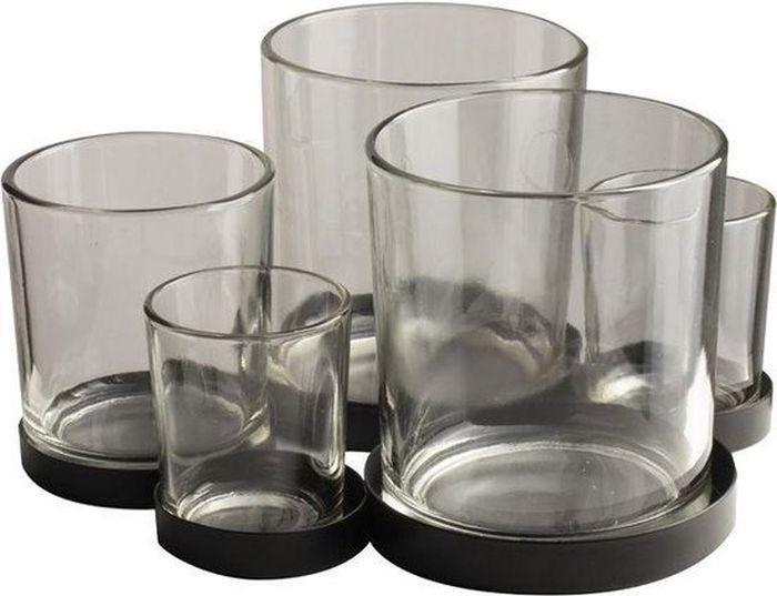 Gusta Metalen Houder met Glaasjes 5 Stuks