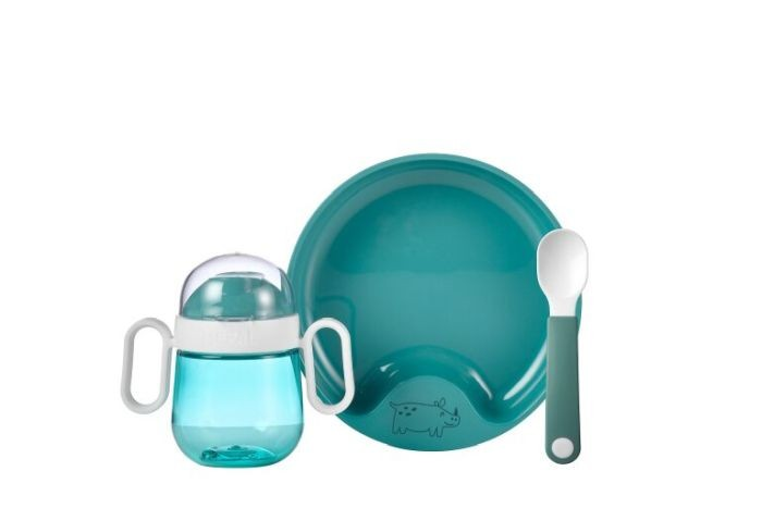 Mepal Set babyservies mio 3 delig - deep turquoise