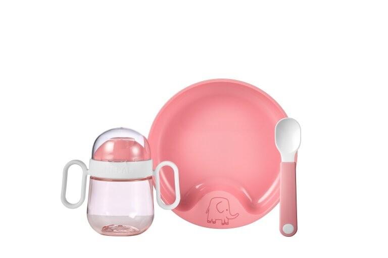 Mepal Set Babyservies Mio 3 Delig Deep Pink