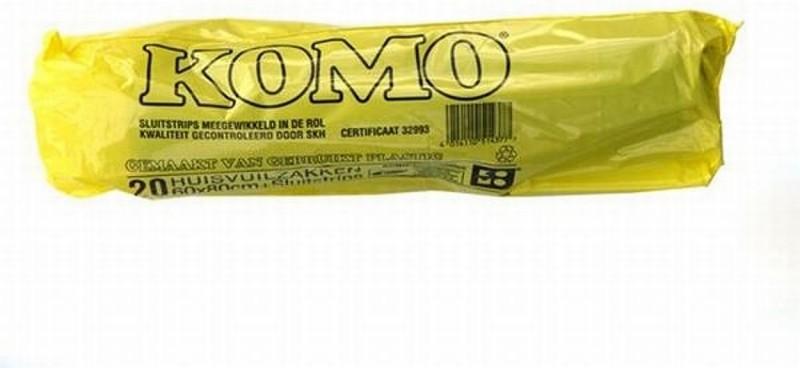 Komo afvalzakken 20 stuks 60x80cm