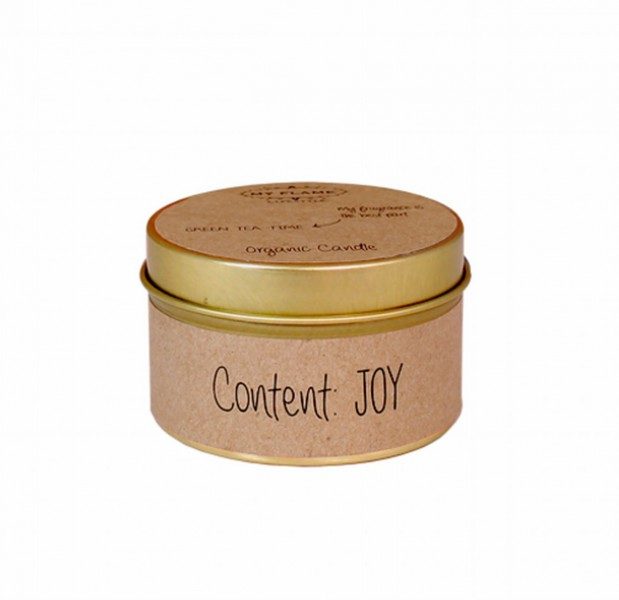 My Flame Lifestyle scented soy candle kraft content joy